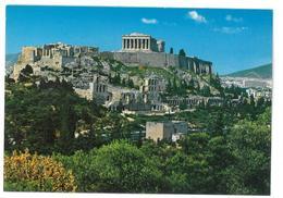 Grecia Hellas Greece Athens View Of The Acropolis Non Viaggiata Condizioni Come Da Scansione - Grecia