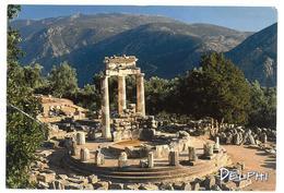 Grecia Hellas Greece Delphi Temple Of Athena Pronaca Non Viaggiata Condizioni Come Da Scansione - Grecia