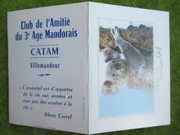 """Calendrier De Poche 1994 """"CATAM"""" (Club De L'Amitié Du 3è Age Mandorais  Villemandeur Loiret - Calendars"""