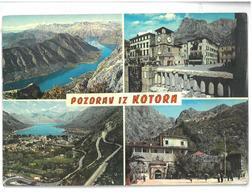 Montenegro Pozdrav Iz Kotora Boka Kotorska Viaggiata 1968 Condizioni Come Da Scansione - Montenegro