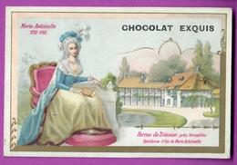 Chromo Image CHOCOLAT EXQUIS -  Roi Reine France - Marie Antoinette 1755 1793 Ferme De Trianon Prés De Versailles - Unclassified