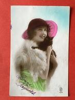1923 - VROUW MET ZWARTE KAT - FEMME AVEC UN CHAT NOIR - Chats