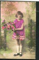 12824 FRANCE  CPA  Fillette Avec Un Bouquet De Fleurs       TB - Portraits