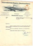 1 Faktuur Wevelghem Manufacture Franco-Belge De Tapis  C 1950 - Belgique