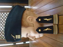 Lot Calot + Pattes D'épaules Lieutenant Colonel Armée De L' Air - Indochine - AFN. - Militaria