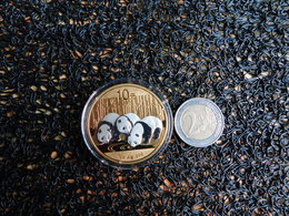 Chine, 10 Yuan, 3 Pandas, 40 Mm, 31,1 Gr Argent, Finition Argentée Antique Et Coloris à Partir De 2013, 250 Exemplaires, - Cina
