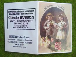 """Calendrier De Poche 1996 """"Ent. Générale Du Batiment""""  Claude BUSSON à Dicy (Yonne) - Calendars"""