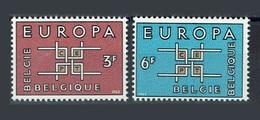 Belgique 1963 Yvert 1260/1261 ** Europa 1963 - Europa-CEPT