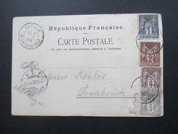 Frankreich 1899 Allegorie Type II Mehrbild PK Mit 4-Farben-Frankatur 4 Verschiedene Wertstufen!! Batilly - 1876-1898 Sage (Tipo II)