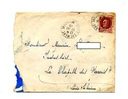 Lettre Cachet Chemere Sur Petain - Marcophilie (Lettres)