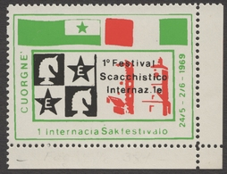 ESPERANTO / CHESS SCHACH ÉCHECS Championships - 1969 ITALY Cuorgnè - MNH Label / Vignette / Cinderella - Esperanto
