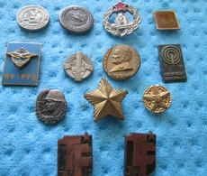 NATIONAL ARMY YUGOSLAVIA,  13 BADGES - Militari