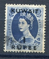 Kuwait - 1956  'Kuwait' OVPT SG119  1rupee  Used - Kuwait