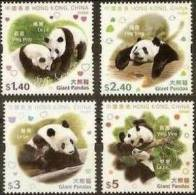 Hong Kong 2008 Giant Panda 4v MNH - 1997-... Chinese Admnistrative Region