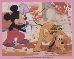 GRENADA GRENADINES - DISNEY - 1930 -1980 PLUTO'S 50th ANNIVERSARY - Disney