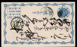 JAPAN, RARE CARTE POSTALE POSTCARD GANZSACHEN - Cartas