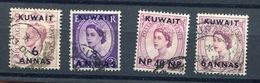 Kuwait -  'Kuwait' OVRP. 4 Stamps  Used - Kuwait
