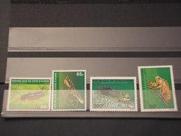COTE D'IVOIRE - 1980 INSETTI 2+2 VALORI - NUOVI(++) - Costa D'Avorio (1960-...)