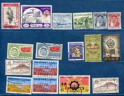 Kuwait -  Lot Of 17  Stamps  Used - Kuwait