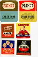 Mons Brasserie Labor Lot De 15 étiquettes Différentes Primus - Hanna Pils - Porter Ale - Phebus - Match - Ect.. - Bier