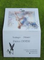 """Calendrier De Poche 1994 Boulanger-Pâtissier """"Patrice DUVEAU""""  à Villemandeur Loiret - Calendars"""