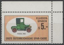 PUCH Oldtimer Oldsmobile Auto Veteran Car Automobile AUSTRIA Erste Bank Sparkasse Savings Tax LABEL CINDERELLA VIGNETTE - Coches