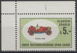 PUSCH Oldtimer Oldsmobile Auto Veteran Car Automobile AUSTRIA Erste Bank Sparkasse Revenue Tax LABEL CINDERELLA VIGNETTE - Coches