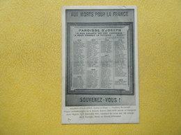 AULNAY SOUS BOIS. La Paroisse Saint Joseph. La Plaque Commémorative De La Grande Guerre 1914-1918. - Aulnay Sous Bois