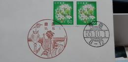 Japan Postmark Owl Civetta Gufo Chouette Train - Eulenvögel