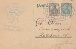 CARD. REICH. 1916. MERXHEIM ALSACE. TO HERLISHEIM CENSOR PK - Allemagne