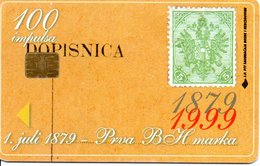 Timbre Stamp  Télécarte Bosnie 100 Impanica Phonecard  Karte (G 133) - Stamps & Coins