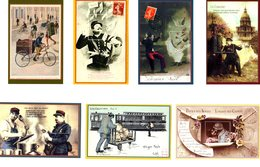 France - 2014 2015- 7 FEUILLETS GOMMES - VIGNETTES PHILAPOSTE - NEUFS - Blokken En Velletjes