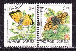Norvegia 1994-Farfalle Serie Completa Usata - Norwegen