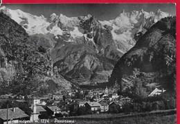 CARTOLINA VG ITALIA - COURMAYEUR (AO) - Panorama - 10 X 15 - ANN. 1955 - Italia