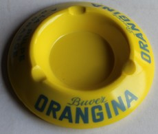 Buvez Orangina Cendrier Publicitaire En Céramique - Asbakken