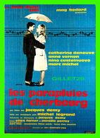 """AFFICHES DE FILM -  """" LES PARAPLUIES DE CHERBOURG """" FILM DE JACQUES DEMY EN 1964 AVEC ELLEN FARMER & MIREILLE PERREY - - Affiches Sur Carte"""