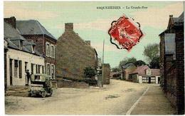 ESQUEHERIES- La Grande Rue -Cp Toilee-Voyagee 1912 - Autres Communes