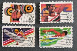 USA - ETATS UNIS D AMERIQUE - 1983 - YT PA 95 à 98 - JEUX OLYMPIQUES 1984 - Gebraucht