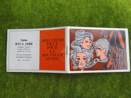 """Calendrier De Poche 1970 Salon De Coiffure """"Jean & Jackie"""" à Montargis (Loiret) - Calendriers"""