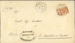 1902- Annullo Ottagonale Di Bressanvido Vicenza Su Piego Affr.20c.Floreale Con Intero Bordo Di Foglio - Storia Postale