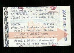 Biglietto Autobus Repubblica Cecka - 24 Korone - Autobus