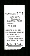 Biglietto Autobus Italia - ACTV Venezia Da Euro 6.50 - Autobus