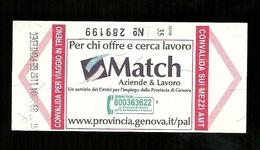 Biglietto Autobus Italia - A.M.T. Genova Ordinario - Match - Autobus
