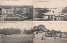 4 CPA:JULLOUVILLE (50) VILLA SIMONE LA CHAPELLE,CASINO ET ENFANTS SUR LA PLAGE,LA MARE DE BOUILLON,VUE - Frankrijk
