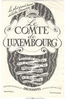 """Partition """" Le Comte De Luxembourg """" - Scores & Partitions"""
