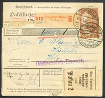 Deutschland  -Paketkarte  Frankfurt - Wels - Germany