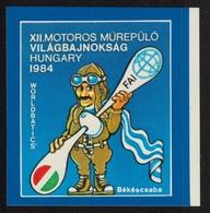 FAI World Aerobatic Championships  - Self Adhesive STICKER - Aerobatics - 1984 HUNGARY Békéscsaba - Airplane Pilot - Stickers