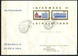 A098 - DDR - Block 23 + 24 Auf 2 FDC Intermess Leipzig 1965 - FDC: Briefe