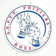 Autocollant , Sports , BOXE , A.S.P.T.T. POITIERS - Stickers