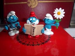 Figurine : Lot De 3 Figurines Schtroumpfs  Marque PEYO - Schtroumpfs